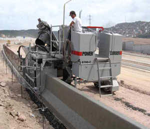 Power Curber 5700 C Slipform Paver Curb And Barrier Molds